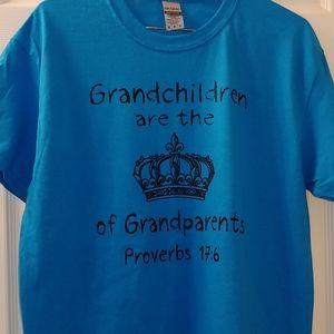 M Shirt with Grandchildren are the 👑 of grandpare